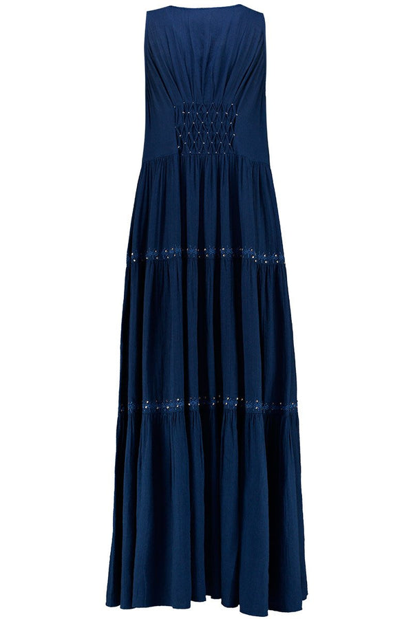 Harper Navy Organic Cotton Maxi Dress