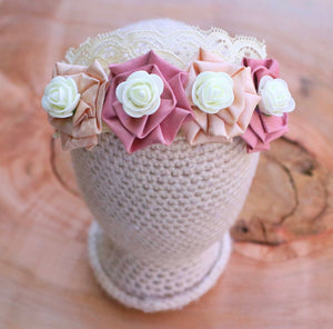 Mauve Floral Crown