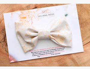 Ivory Cotton Candy Bow
