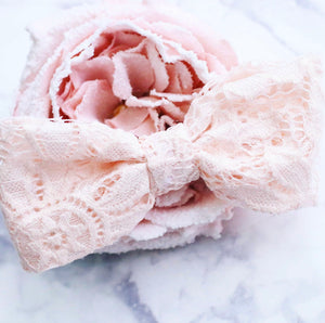 Blush Lace Bow