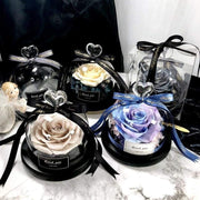 Exclusive Rose in Glass Dome with Lights - Real Rose - Gifted Luvv