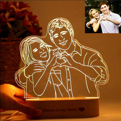 Gifted Luvv Personalized 3D Lamp - Gifted Luvv