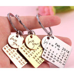 Personalized Calendar Keychain - Gifted Luvv