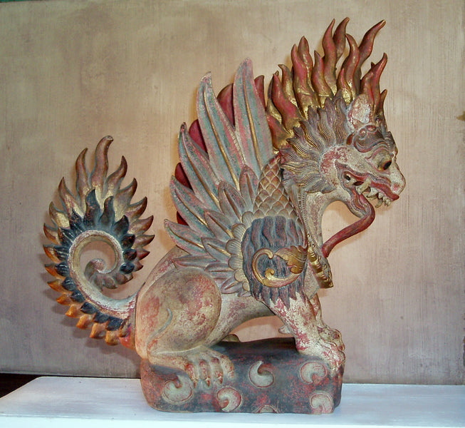 The mythical winged lion of Bali. Singa Bersayap..
