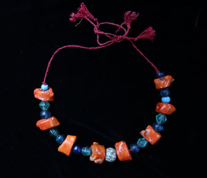 37 Coral and old bead Necklace