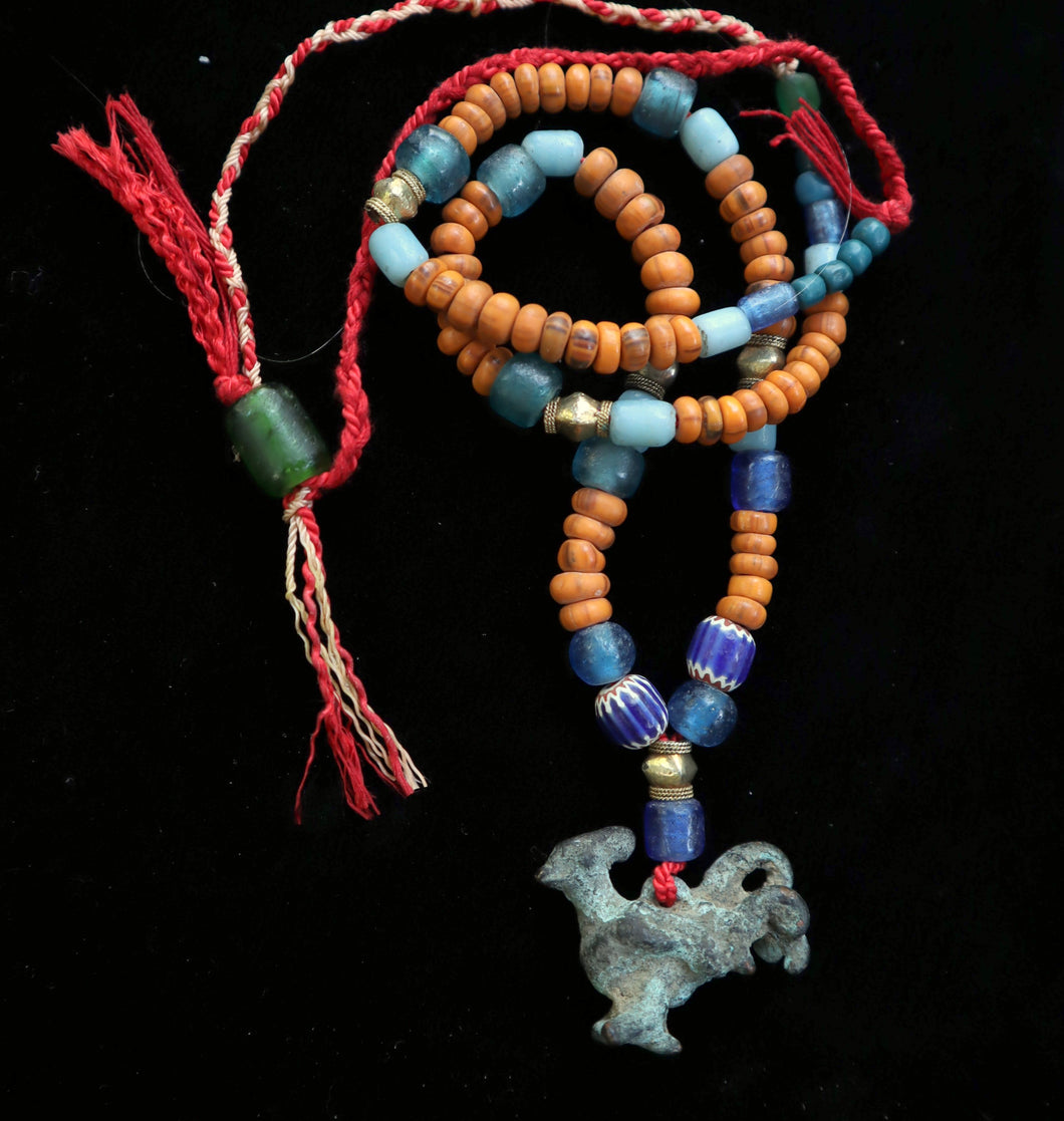 43 Dong Son pendant with other ancient beads necklace.