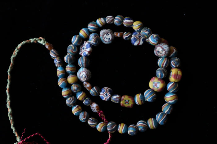 53 Ancient face bead necklace