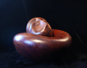 Brancusi head on a cedar bed