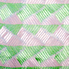 Load image into Gallery viewer, Phulkari Pink & Mint Green Decorative Throw Pillow Cover