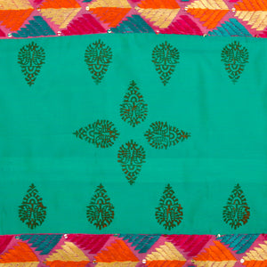 Phulkari Block Printed Decorative Throw Pillow Cover
