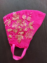 Load image into Gallery viewer, Fuchsia Pink Sequined Breathable Cotton Face Mask