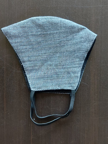 Grey Denim Look Breathable Cotton Face Mask