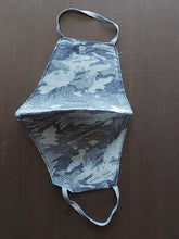 Load image into Gallery viewer, Grey Camouflage Design Breathable Cotton Face Mask