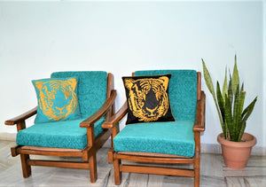 embroidered tiger throw pillow cover