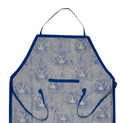 Apron Traditional Tiger Block Print - Directly Benefits Wildlife