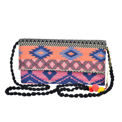 The Mohali Clutch - Pink/Coral