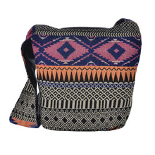 Load image into Gallery viewer, The Boho Style Ballona Messenger Bag - Pink/Blue