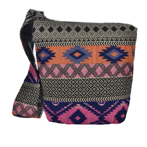 The Boho Style Ballona Messenger Bag - Pink/Orange
