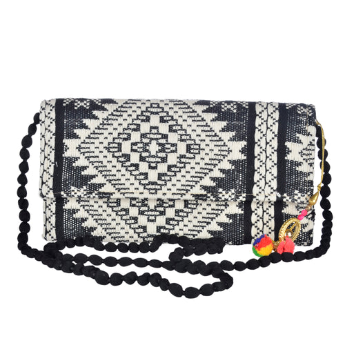 The Mohali Clutch - Black/White