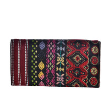 Load image into Gallery viewer, The Mohali Clutch Boho Purse - Red/Black