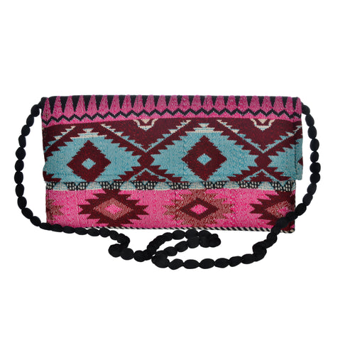 The Mohali Clutch - Pink/Blue