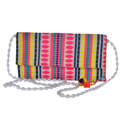 The Mohali Clutch - Pink/Yellow
