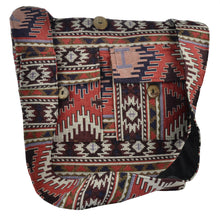 Load image into Gallery viewer, The Kajri Boho Style Messenger Bag - Red/White