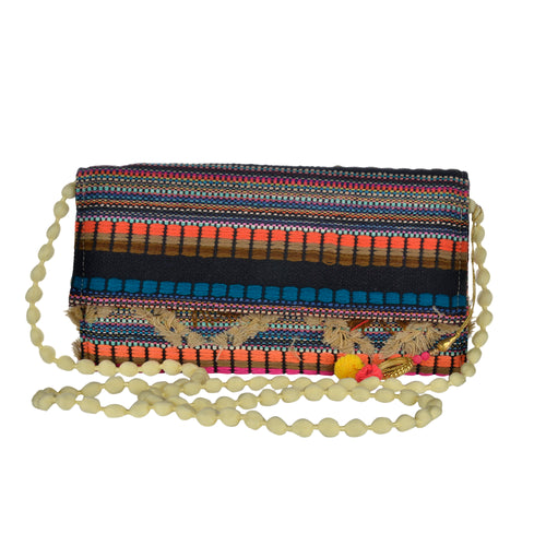 The Mohali Clutch - Orange/Blue/Multi