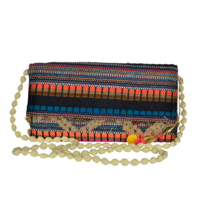 The Mohali Clutch Purse - Orange/Blue/Multi