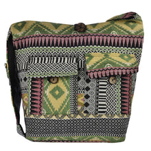 Load image into Gallery viewer, The Boho Style Kajri Messenger Bag - Green/Yellow