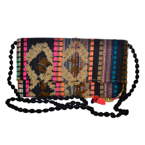 The Mohali Clutch - Orange/Multi