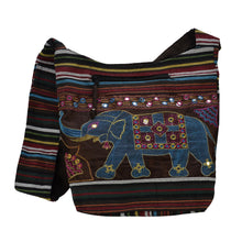 Load image into Gallery viewer, The Boho Style Hathi Messenger Bag - Brown/Blue