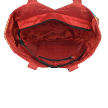 Load image into Gallery viewer, The Kali Shoulder Handbag - Red Embroidered