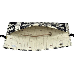The Mohali Clutch Purse - Black/White