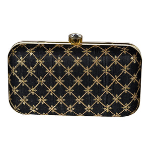 The Rani Clutch Bag - Black