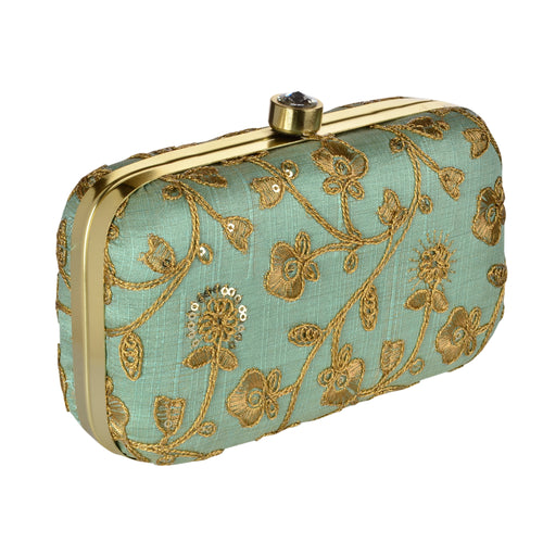 The Rani Clutch - Mint Green