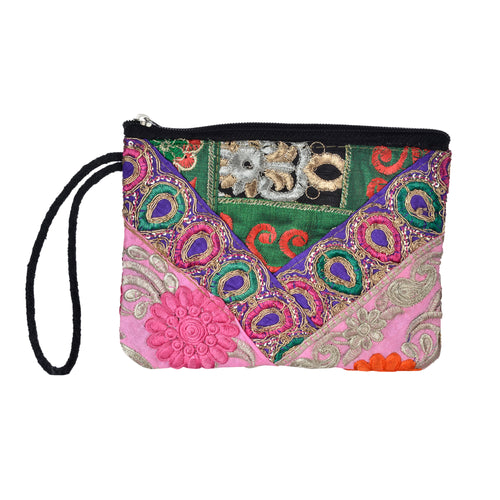 The Pari Wristlet - Purple/Pink
