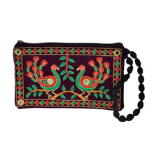 Load image into Gallery viewer, The Jhumka Wristlet - Green/Red Peacock