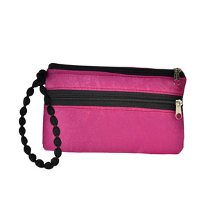 The Jhumka wristlet - Red/Purple Camel