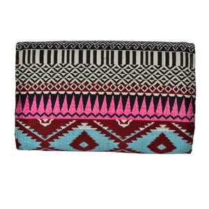 The Sheera Clutch Boho Purse - Blue/Pink