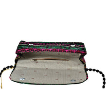 Load image into Gallery viewer, The Sheera Clutch Bag - Pink/Green