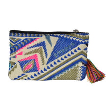 Load image into Gallery viewer, The Bhaloo Clutch boho purse - Blue/Pink