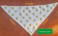 Load image into Gallery viewer, White Handmade Block Printed Dog Bandana | 20% goes to stray dogs in India