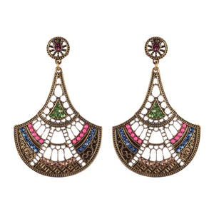 Indian Chandelier Style Beaded Earrings