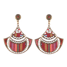Load image into Gallery viewer, Bohemian Beaded Woven Fabric Earrings For Women