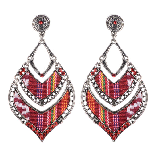 Red Boho Earrings For Women