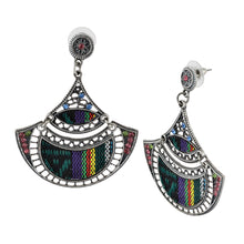 Load image into Gallery viewer, Bohemian Beaded Woven Fabric Earrings