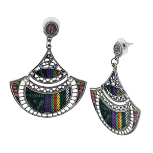Bohemian Beaded Woven Fabric Earrings For Women