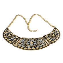 Load image into Gallery viewer, Artisan India White Mosaic Statement Necklace