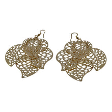 Load image into Gallery viewer, Chandelier Cutout Leaves Dangle Earrings For Women